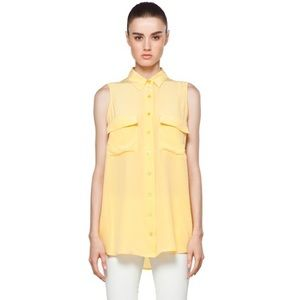 Equipment Femme Sleeveless Signature Silk Shirt